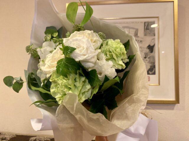 アマン東京で用意してもらった花束
