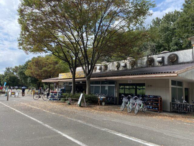 国営武蔵丘陵森林公園の西口サイクルセンター